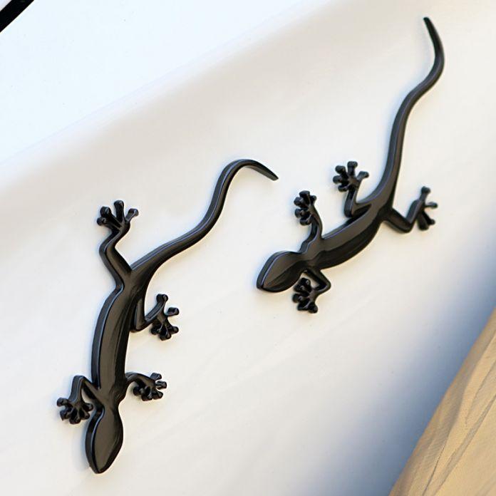 Gecko Ящерица Quattero 3D Металл Ho Авто Мотоциклов Логотип тотем Герба Знак Наклейка Серебро Золото Черный DIY 3 Цветов автомобиль Для Укладки
