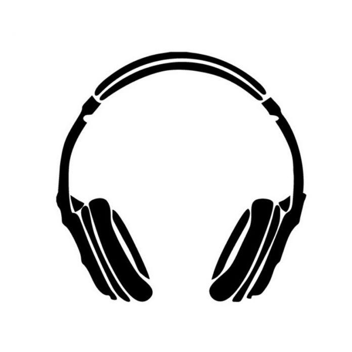 14.5*14.5 СМ НАУШНИКИ Музыка Автомобиля Стикер Весело DJ Мотоцикл Декоративные Наклейки Автомобиль И Отличительные Знаки C2-0020
