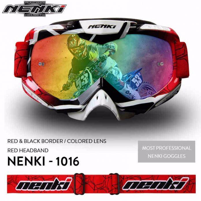 (1 шт. и 6 цветов) Высокое Качество Бренда Nenki-1016 Мотокросс Очки Мотоцикл Щит Visor Очки Мото Каско Gafas шлем