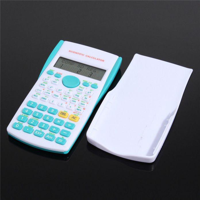 Школа Студент Калькулятор Функция 2 Строчный Дисплей Научный Калькулятор Многофункциональный Счетчик 12 Цифровой Счетные Машины