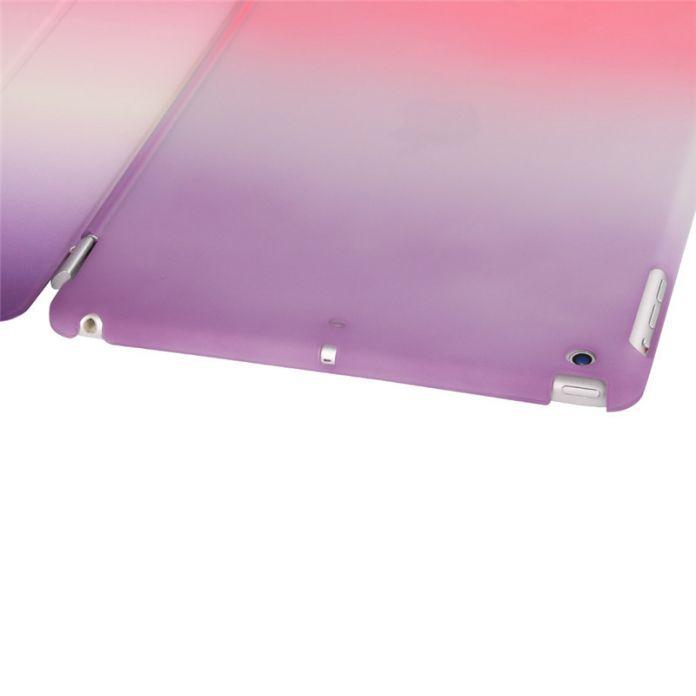 Для ipad mini 2 3 retina Case Радуга ИСКУССТВЕННАЯ Кожа Ультра тонкая магнитная Смарт обложка авто сна + жесткий чехол назад компьютер shell