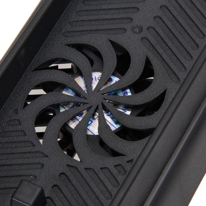 3 Порта Зарядки Док USB HUB ХОСТ Двумя Вентиляторами Охлаждения кулер База Держатель Зарядное Вертикальная Подставка для Playstation 4 PS4 консоли