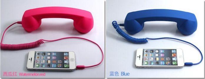 Телефон Приемник Трубки Анти-излучения Ретро Телефон Телефон Телефон Для PSP, новый 3DS и Всех Смартфонов