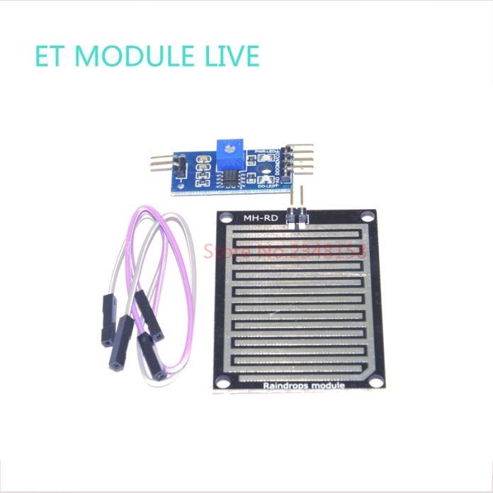 (1 шт.) Датчик Дождя Воды Капли Дождя Обнаружения Модуль Автоматического полива Дождь Погода Модуль Влажность Для Arduino Raspberry Pi