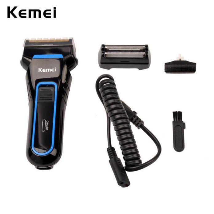 Kemei 100-240 В Электрический Беспроводная Аккумуляторная Сабельная Двухместный Лезвия grommer бритва триммер для Мужчин бритье машины