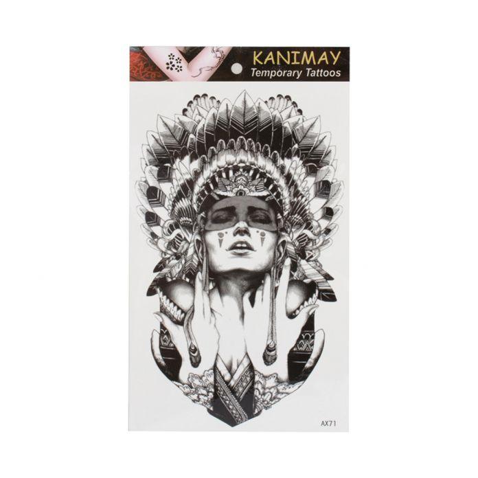 Древние женщины держать слезы Размер 22x12 см Боди-Арт Экзотические Sexy Хна тату Временные Татуировки Татуировки Наклейки Татуировки 2016 Новый