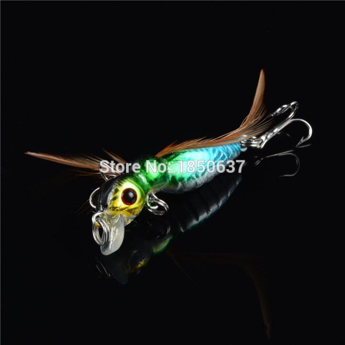 1 шт. жесткий пчела рыболовные приманки 8 цветов 3d глаза приманки 3.6 г 4.5 см рыболовные снасти тонущий воблеры