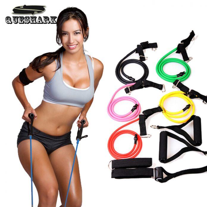 Многофункциональный Тянуть Веревку Упругий Канат Crossfit Тренажеры Резинка Пояса Gym Yoga Пилатес Сопротивление Веревки