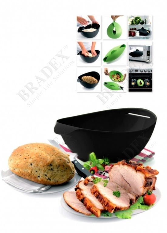 Форма силиконовая для выпечки и запекания, черная (Steam roaster, black)
