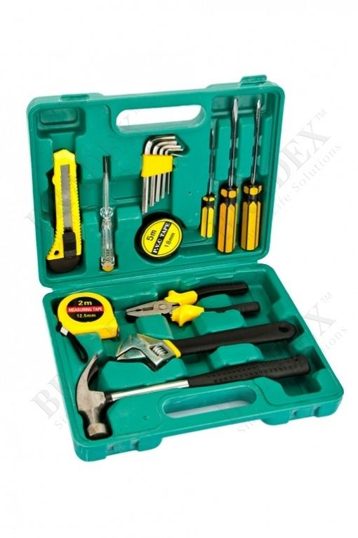 Набор инструментов из 15 предметов в кейсе (15 pieces tool kit)