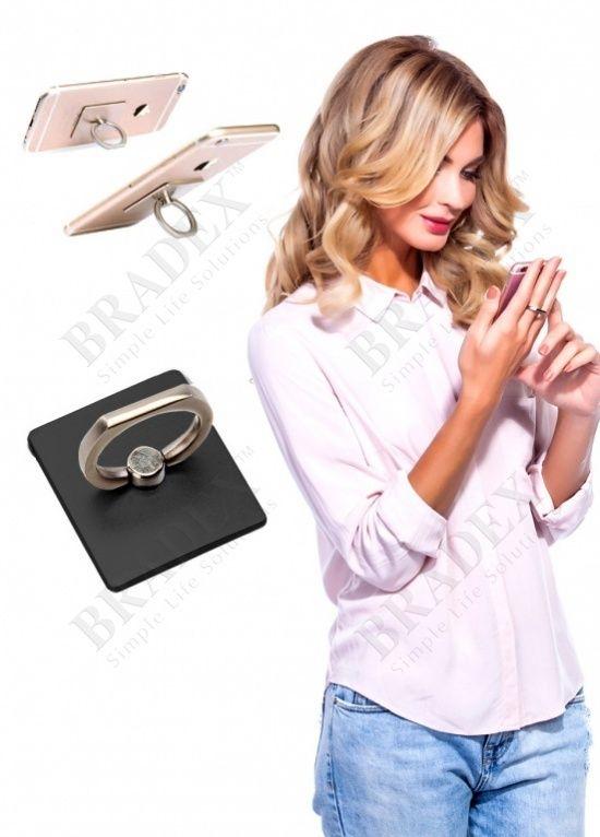 Кольцо-держатель и подставка для телефона и планшета, золотое (Iring, gold)