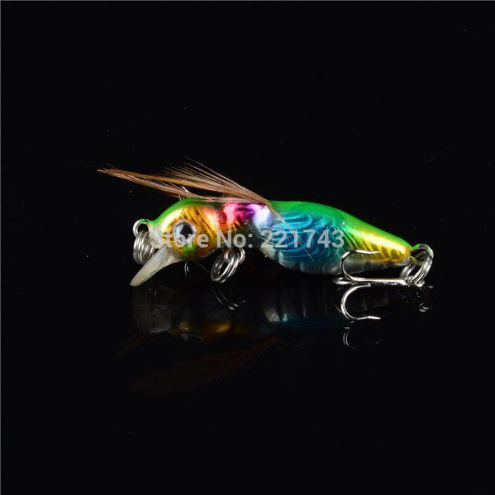 1 шт. Жесткий Пчела Рыболовные Приманки 4.5 см/3.6 г с Крыла Рыболовные Снасти 3D Глаза Приманки 6 # Крючки Приманки