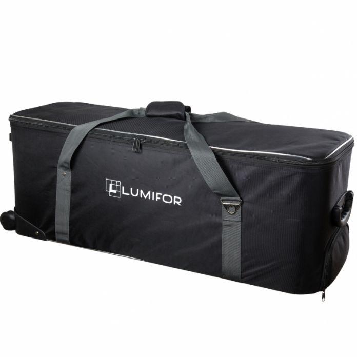 Комплект студийного света Lumifor AMATO 200 CREATIVE KIT, импульсный 3х200Дж, 2 Софтбокса, Соты, Зонт, Шторки