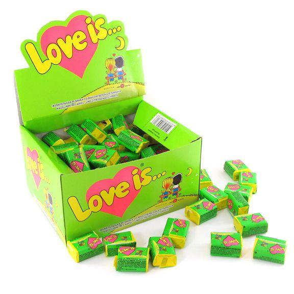 """Жвачка Love is - """"Яблоко-Лимон"""" (блок 100 шт.)"""