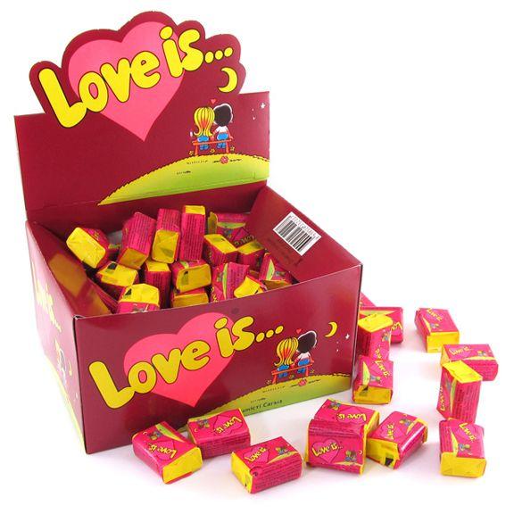 Жвачка Love is - вишня-лимон (блок 100 шт)