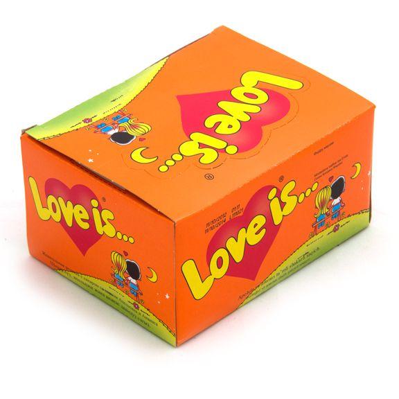 Жвачка Love is - апельсин-ананас (блок 100 шт)