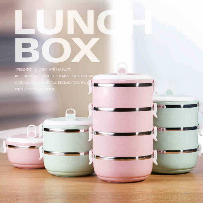 термос для обеда Портативный Японский Ланч-Бокс Пищевой Термо Lunch box для Детей Тепловой Bento Lunchbox Platic PP + Нержавеющая Сталь 304 E1