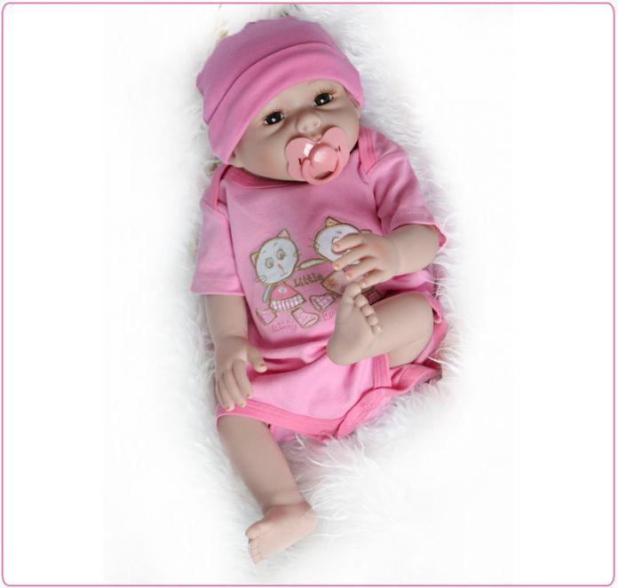 Ucanaan/ручной работы 50 см полный силиконовые Кукла реборн 20 ''винил мода реалистичные Игрушечные лошадки для Обувь для девочек BABY ALIVE новорожденных Куклы ребенок подарок