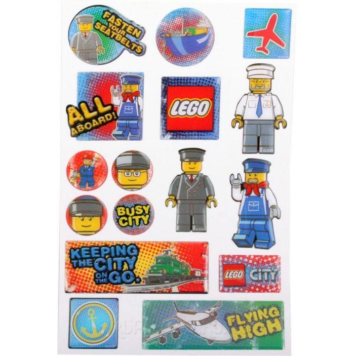 фото Lego. Набор наклеек (21618), Сity