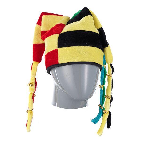 фото колпак шутовской 6-цветный с 3-мя рогами-косичками