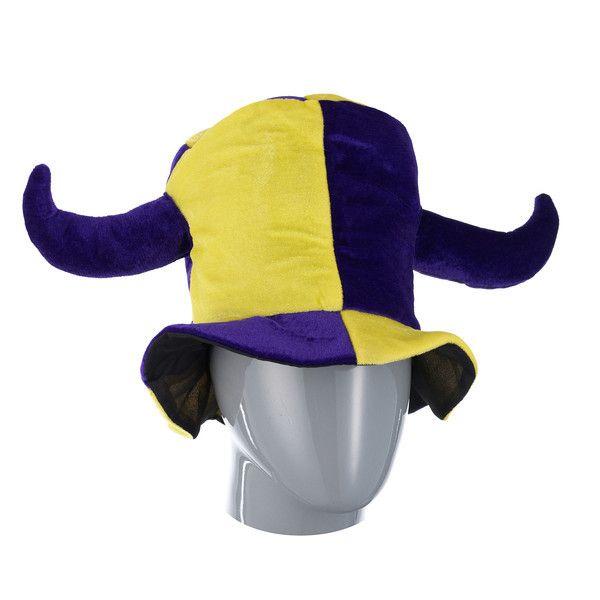 фото колпак шутовской шляпа жёлто-фиолет. . с 2-мя рогами