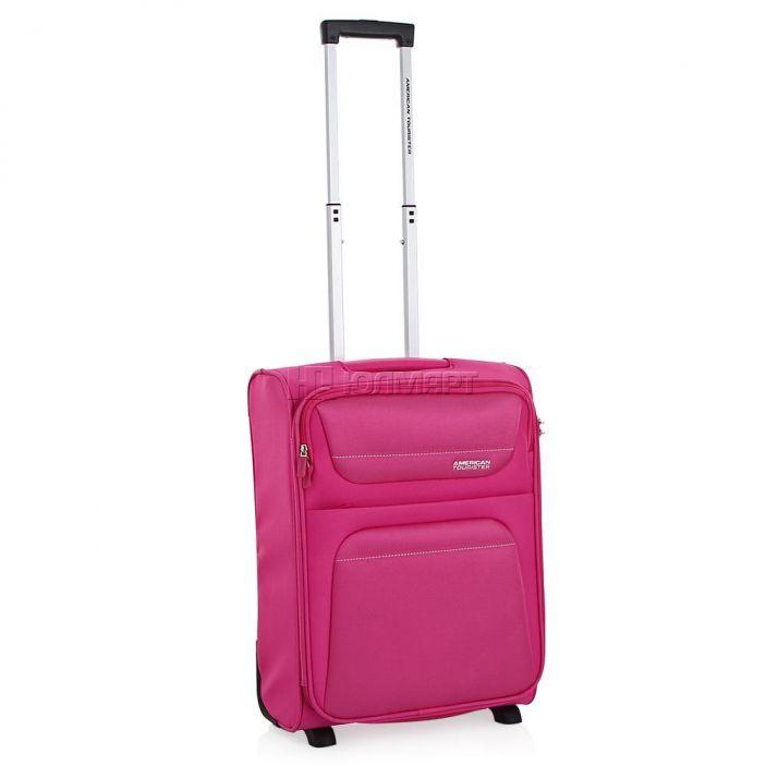 фото Чемодан 2-х колесный American Tourister Spring Hill 94A-90002, полиэстер, 40л, розовый