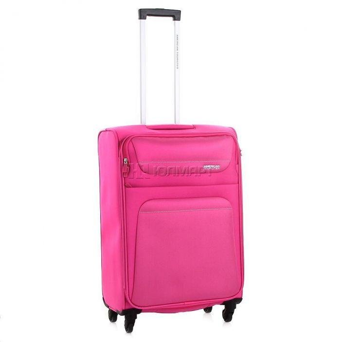 фото Чемодан 4-х колесный American Tourister Spring Hill 94A-90004, полиэстер, 61л, розовый