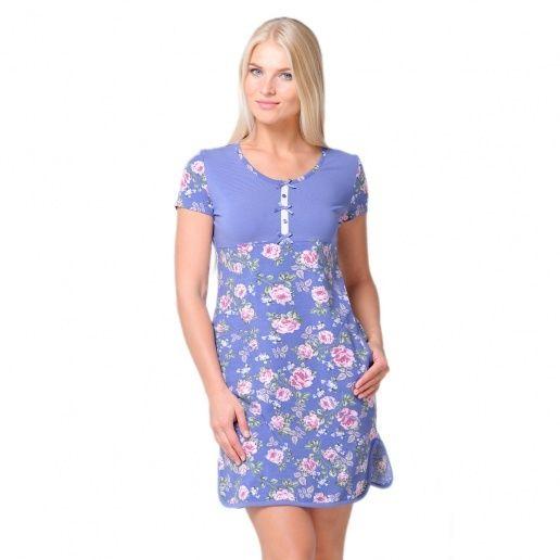 фото Платье  жен Santi AW15-UAT-LDS-191 синие розы р. 50-52