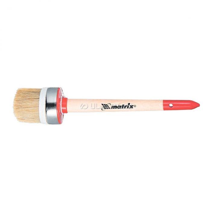 фото [82053] Кисть круглая Профи №16 (55 мм), натуральная щетина, деревянная ручка , Matrix