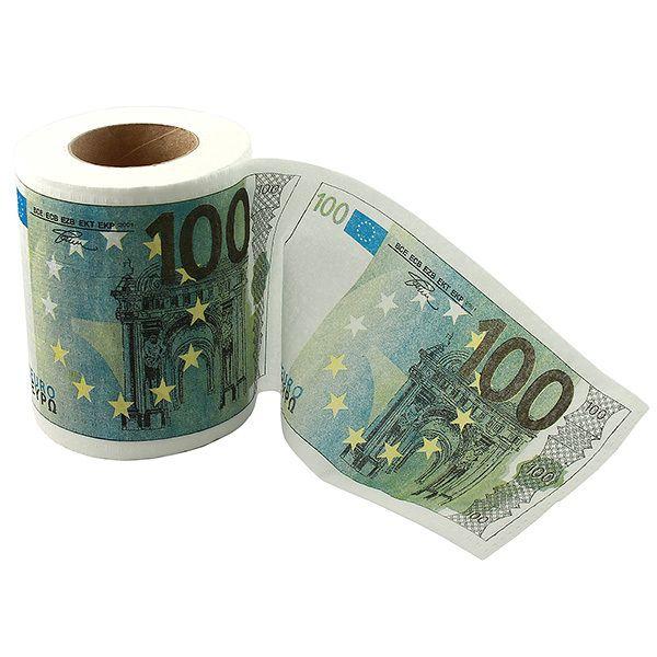 фото Туалетная бумага 100 евро мини