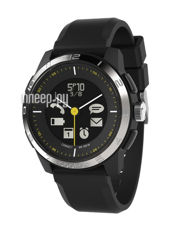 фото Cookoo Watch Sporty Chic Version 2 CK2.0-002-01 Black-Silver