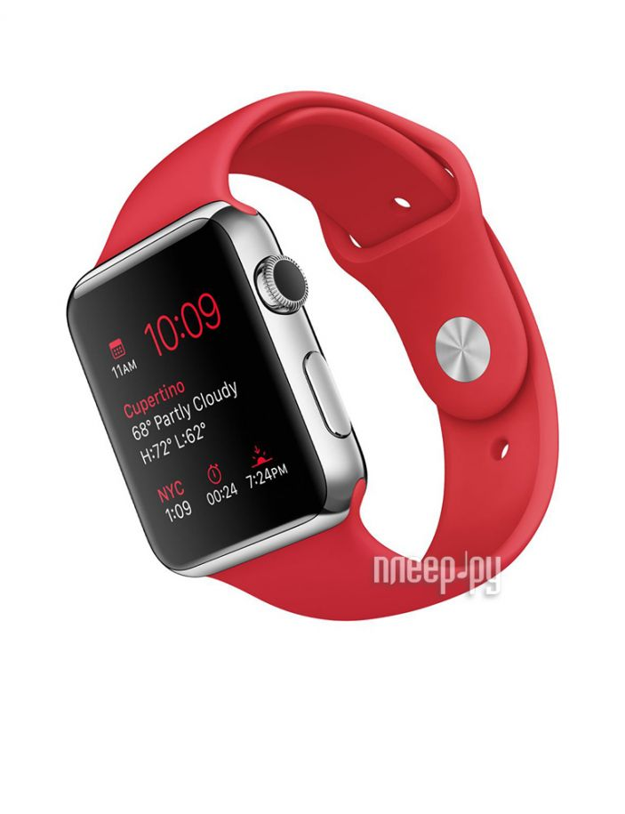 фото APPLE Watch 42mm with Red Sport Band MLLE2RU/A