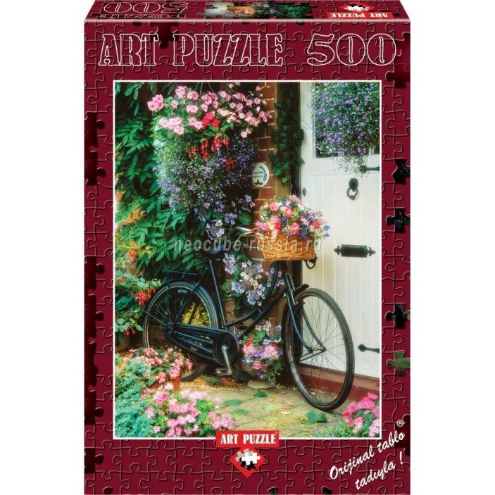 фото Пазл «Велосипед с цветами», 500 деталей