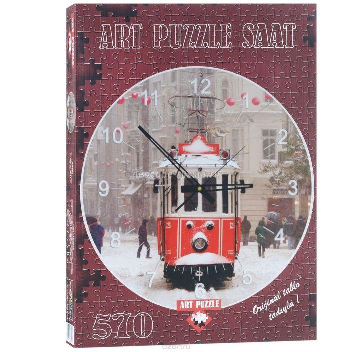 фото Пазл-часы «Трамвай», 570 деталей