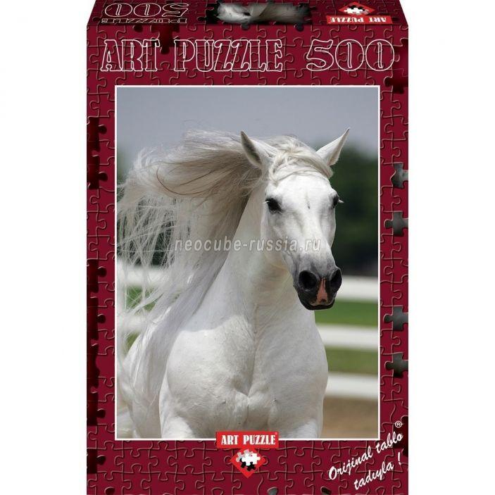 фото Пазл «Белый жеребец», 500 деталей