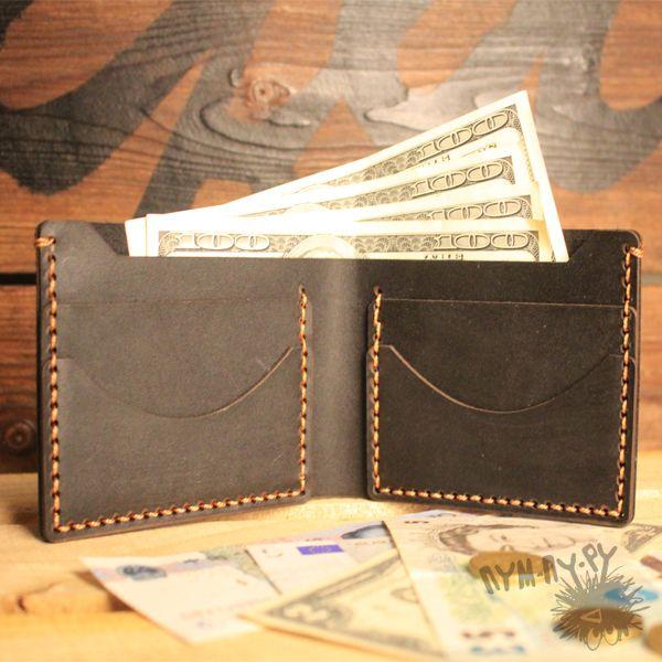 фото Кожаный мужской кошелек