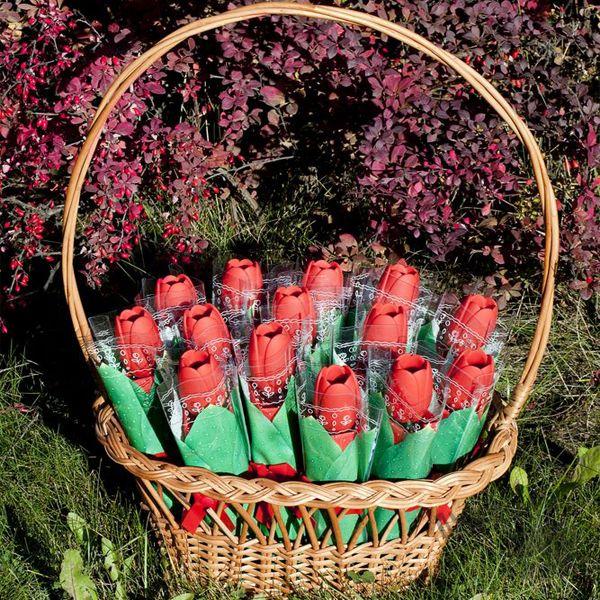 фото Зонт «Тюльпан», красный
