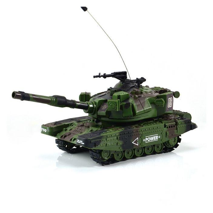 фото Радиоуправляемый танк Mioshi Army MT-90 (27см, свет, звук, стрельба, зеленый)