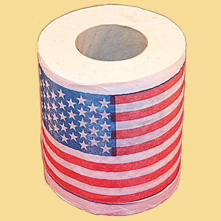 фото Туалетная бумага Американский флаг мини