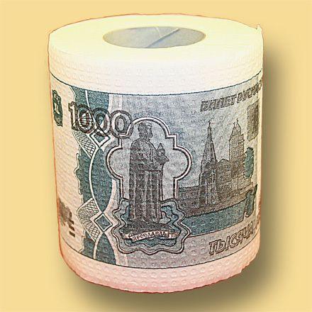 фото Туалетная бумага 1000 руб мини