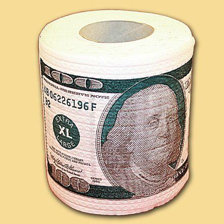 фото Туалетная бумага 100$ мини