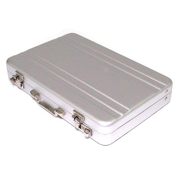 фото Визитница в виде чемоданчика серый