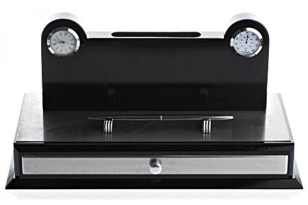 фото Набор настольный, 33х16 см, с часами и термометром + ручка (кор 6 набор)