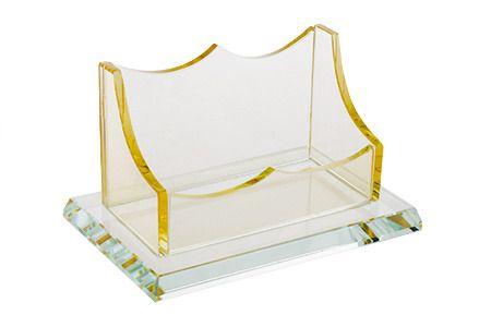 фото Подставка для визиток, стекло, 12х8х7 см (кор 32 шт)