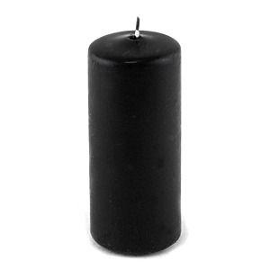 фото Свеча пеньковая, 4х9 см, черная, время горения 11 ч