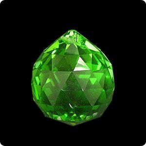 фото Подвеска, хрусталь, зеленый, d-40 мм (кор 300 шт)