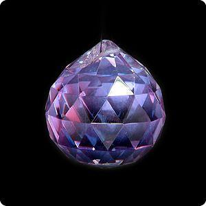 фото Подвеска, хрусталь, фиолетовый, d-40 мм (кор 300 шт)