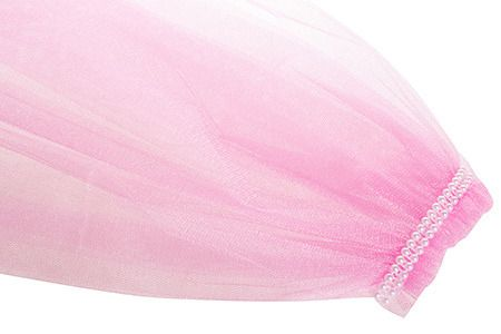 фото Фата для девичника на гребне, розовый, 63 см