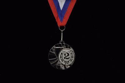 фото Медаль наградная с лентой, d - 50мм ( цвет