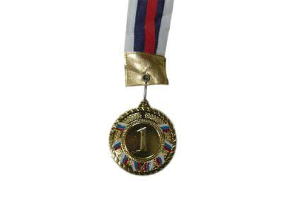 фото Медаль наградная с лентой, d - 60мм ( цвет